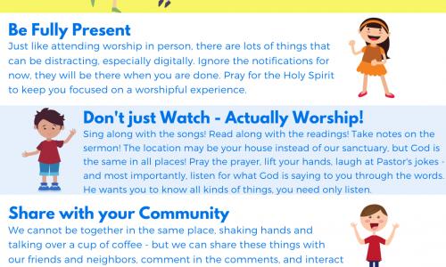 Online Worship – April 18th/19th, 2020